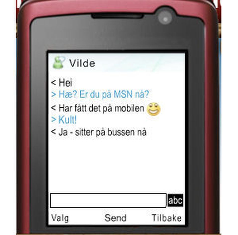 Live MSN til mobilen