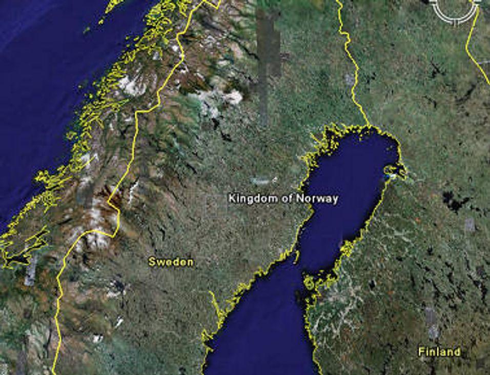 Google tror Norge ligger i Sverige