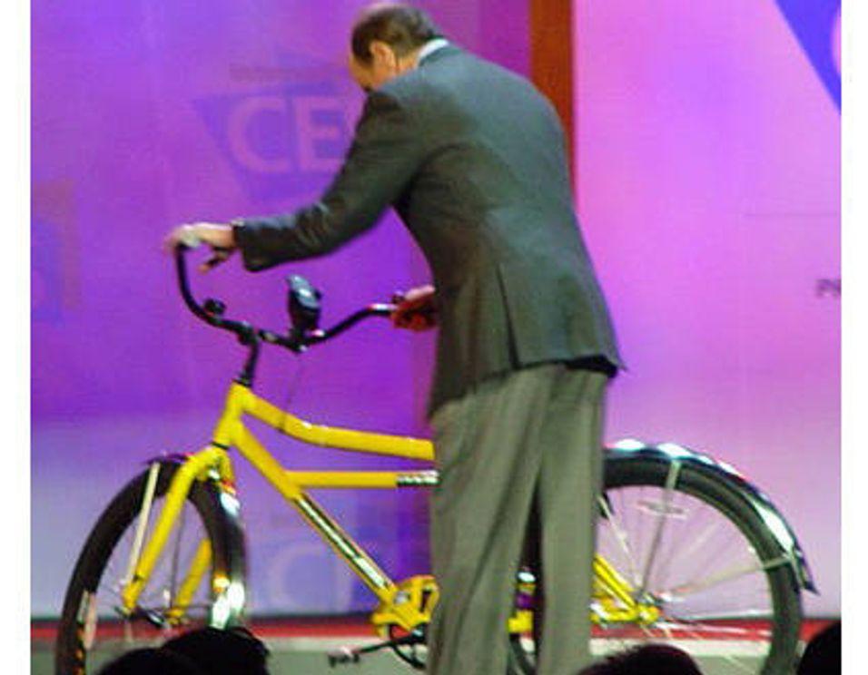 Lad mobilen mens du sykler