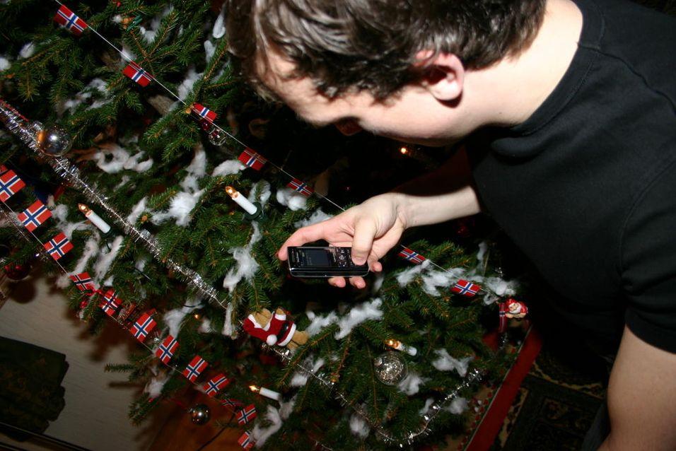 Knipser julebilder med mobilen