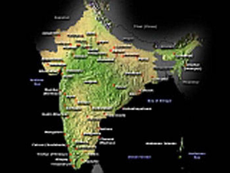 Google Earth gjør India uskarpt