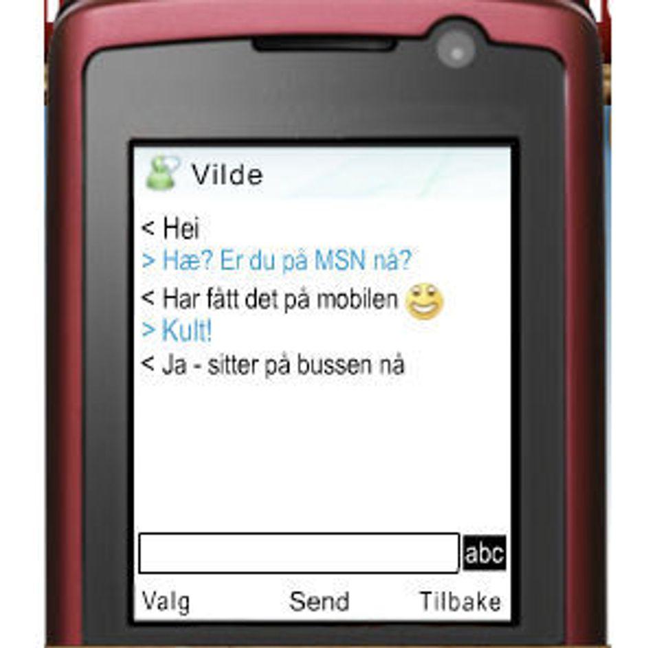 Suksess for Telenors mobil-MSN