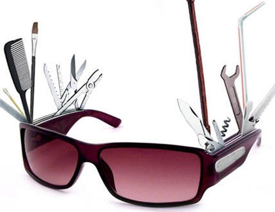 Solbriller med lommekniv