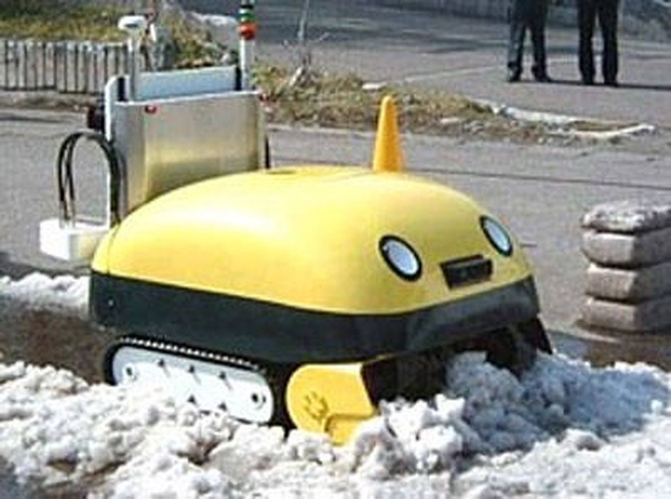 Snømåkende robot