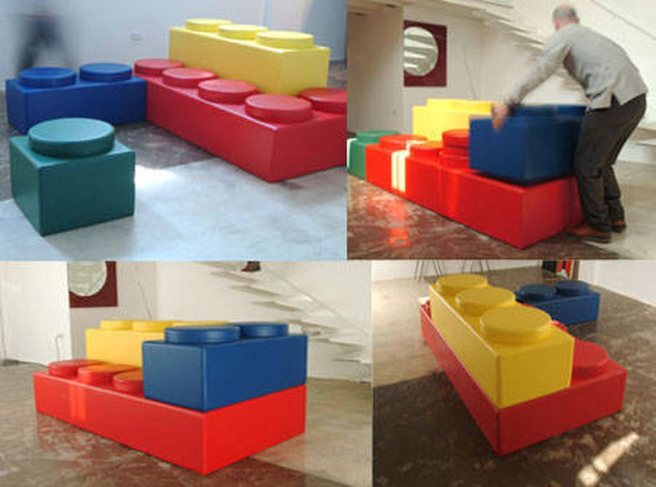 Bygg som du vil med Lego-sofa