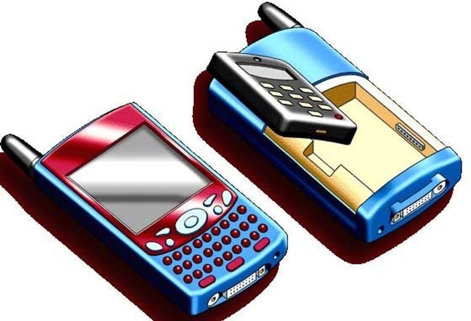 PDA med avtakbar mobil