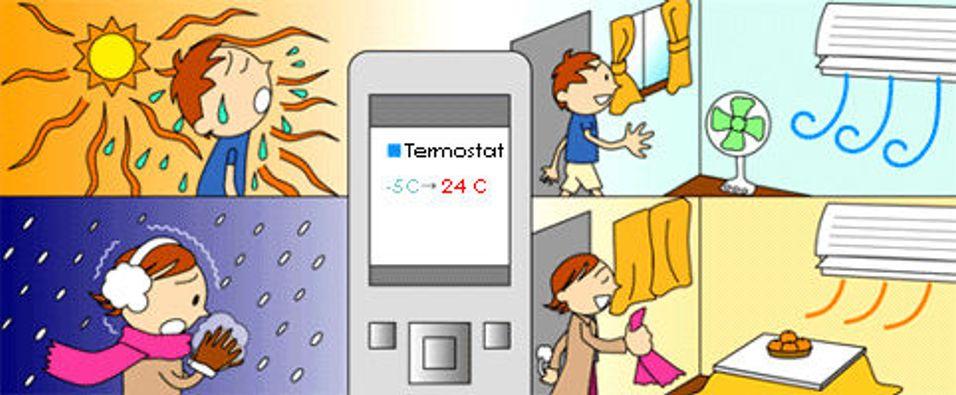 Kontroller apparatene hjemme med mobilen