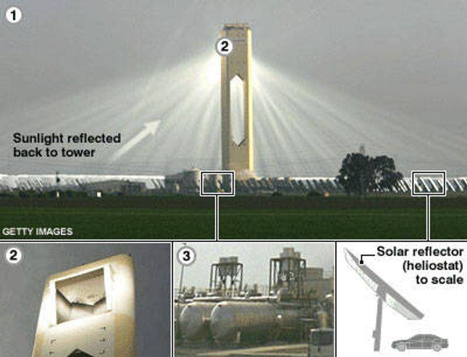 Solcelletårn kan gi strøm til hel by