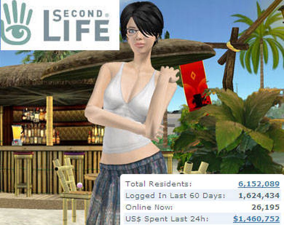 Flest europeere i Second Life