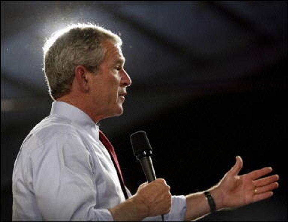 Stenger mobilnettet under Bush-besøk