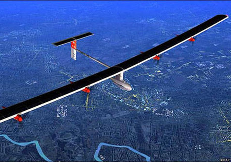 Jorden rundt med solcellefly