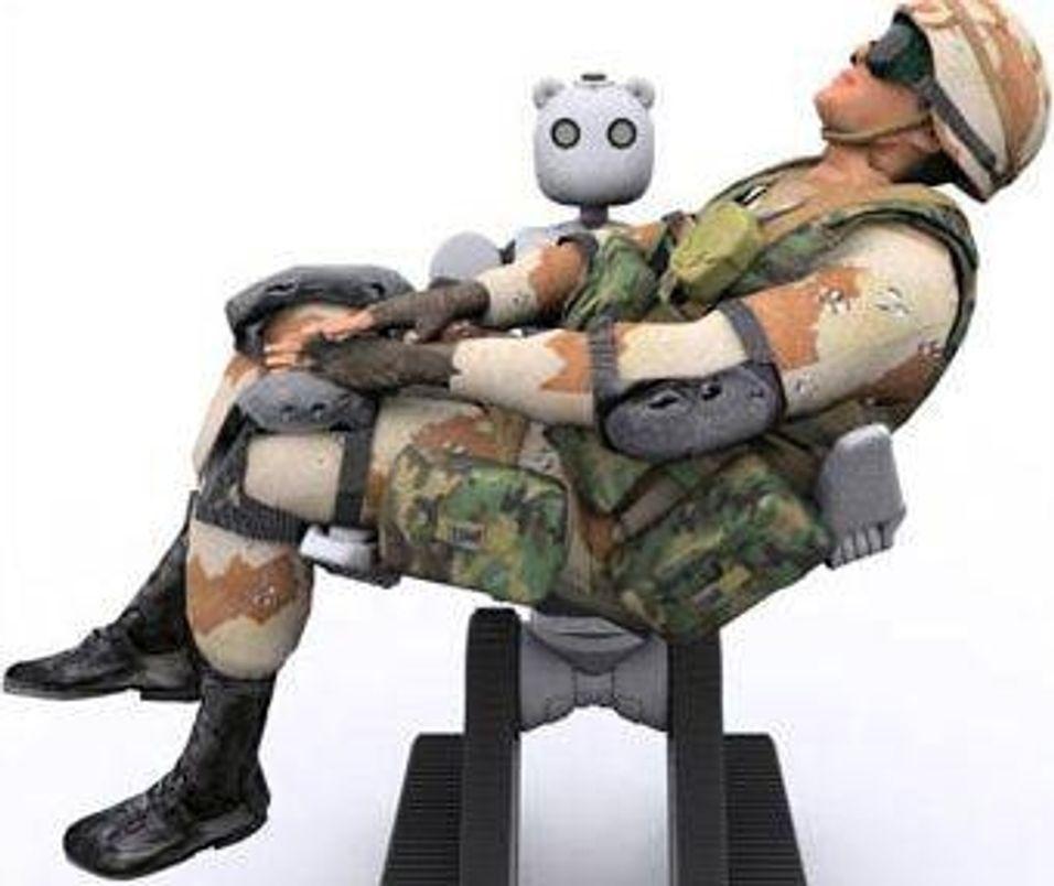 Teddybjørn roboter skal i kamp