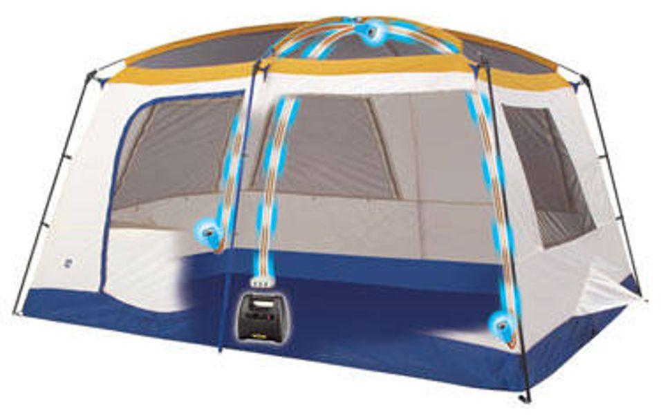 Endelig strøm på telttur