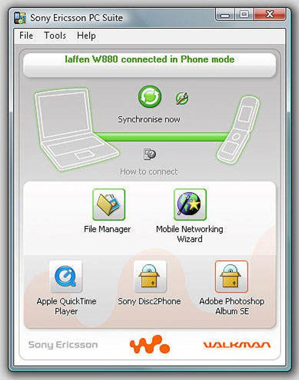 Sony Ericsson PC Suite klar for Vista