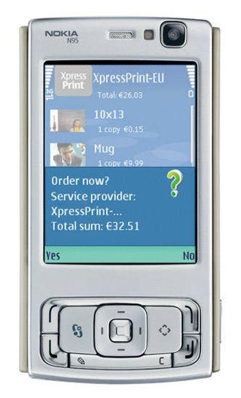 Nokia med fotofremkalling