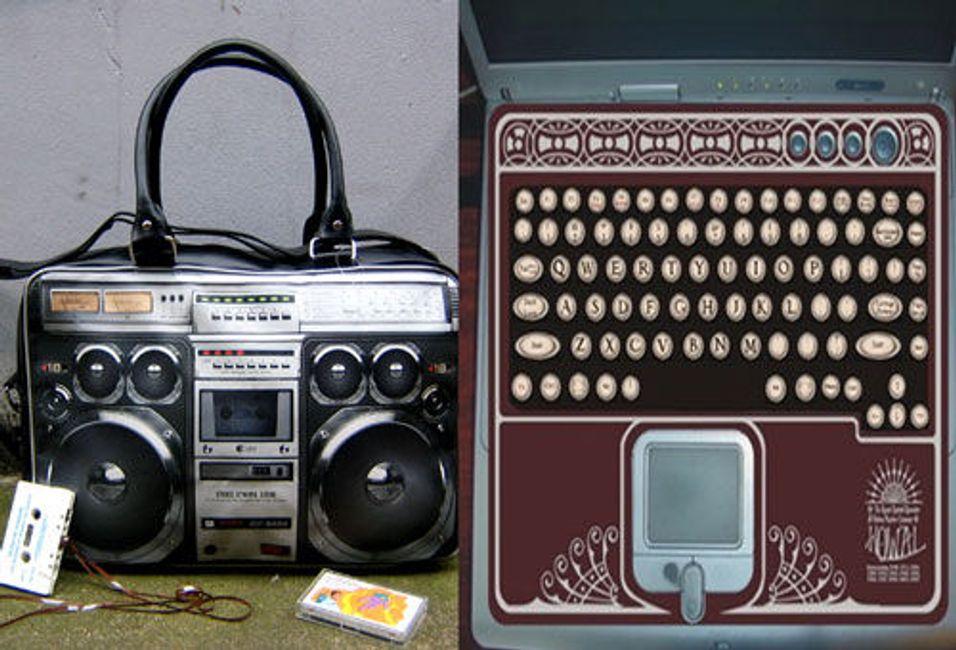 Ghettoblaster og skrivemaskin