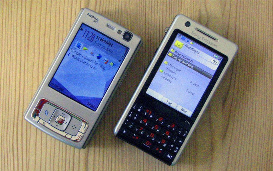 Sony Ericsson P1 versus Nokia N95