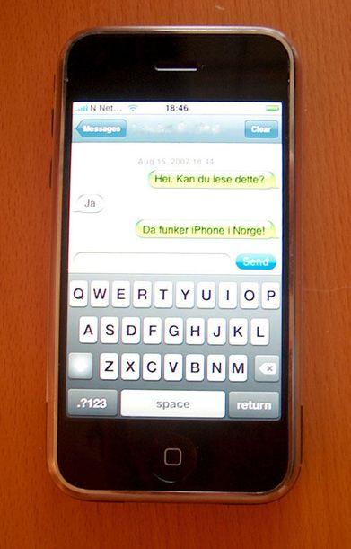 Iphone kan brukes i Norge