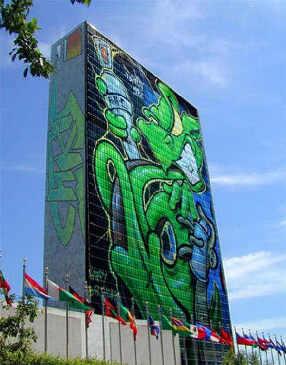 Grafitti som bare sees med mobil