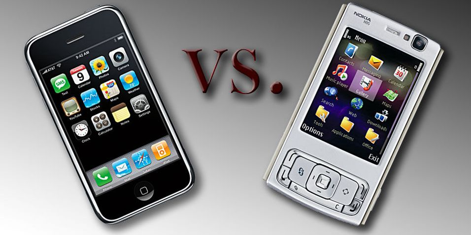 Apple Iphone vs. Nokia N95