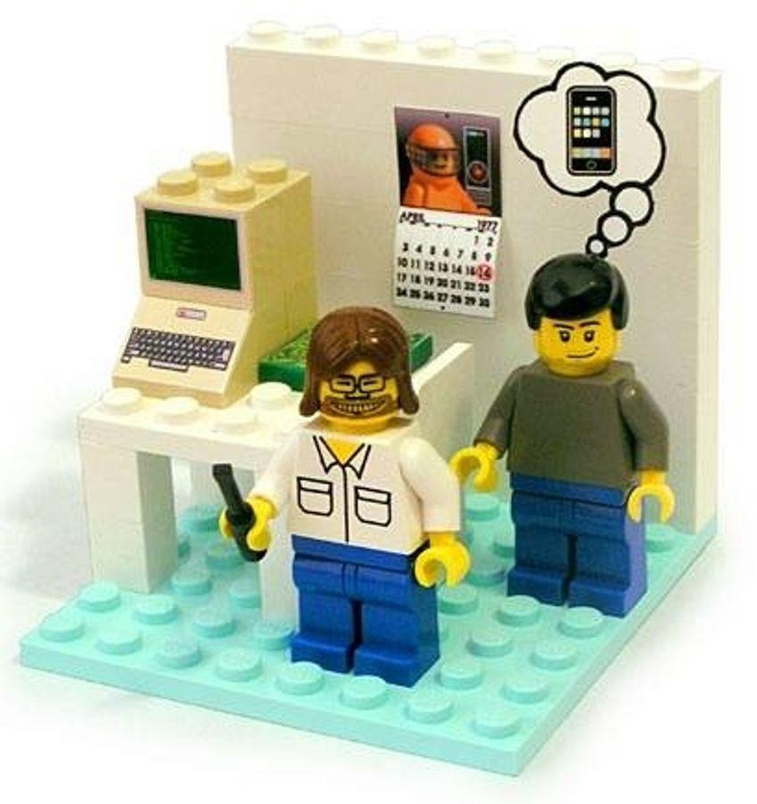 Steve Jobs har blitt firkantet