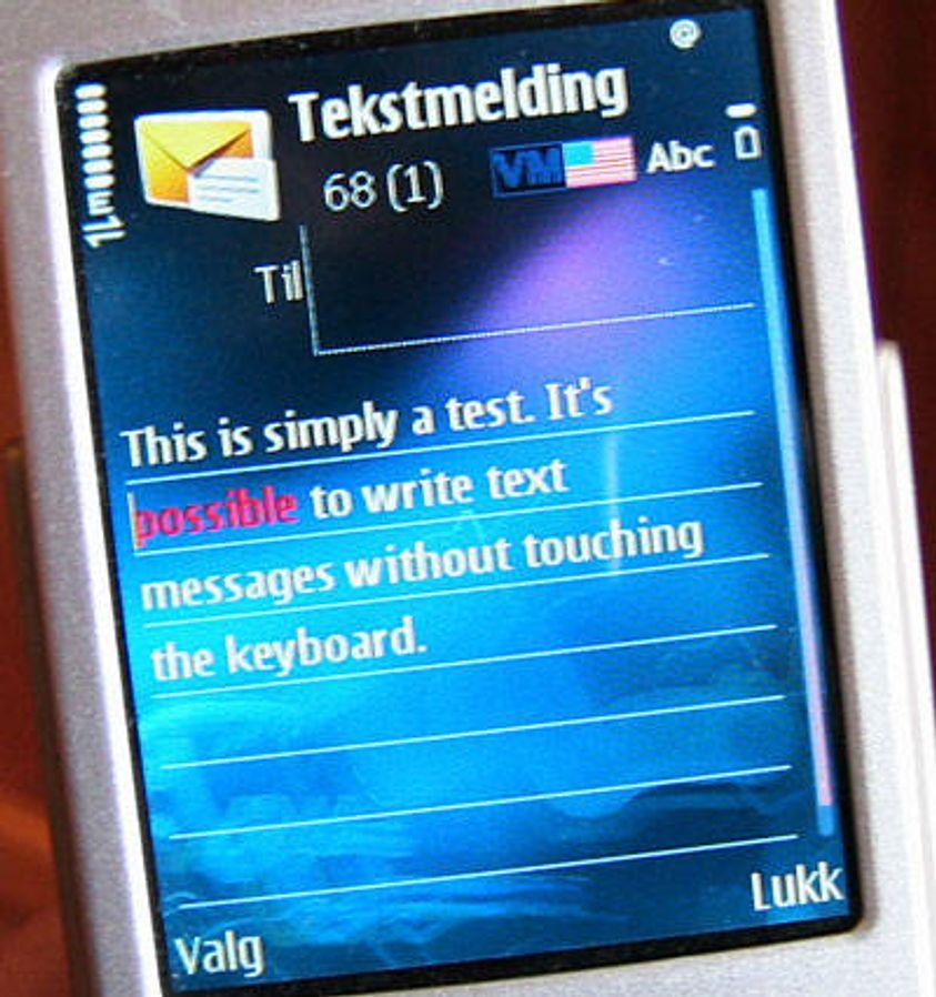 Skriv tekstmeldinger med ett tastetrykk!