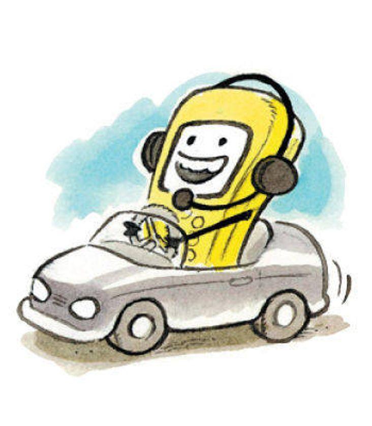 Sparker buss-sjåfører som snakker i mobil