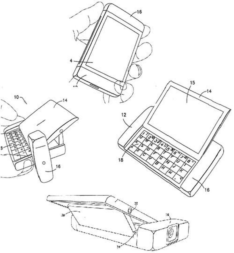 Nokias patenterte sidespark