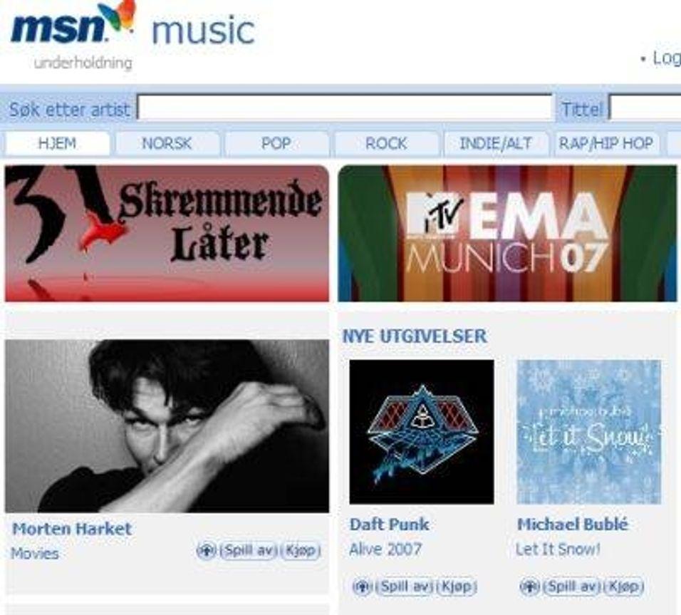 TEST: MSN Music Store