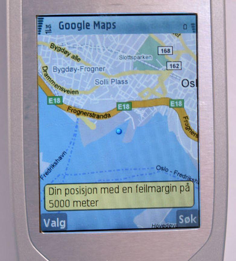 Posisjonering uten GPS fra Google