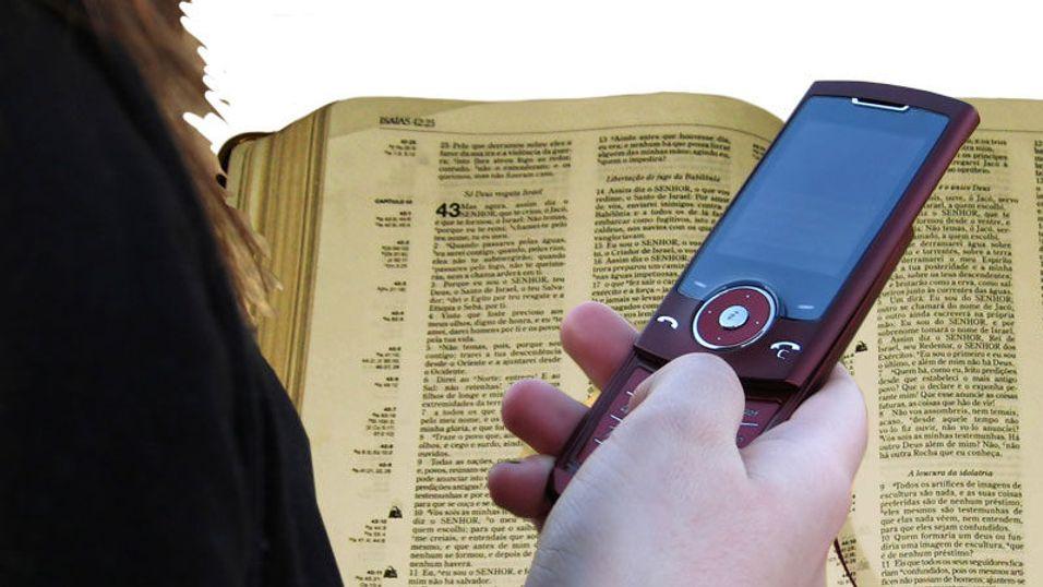 Bibelvers på SMS