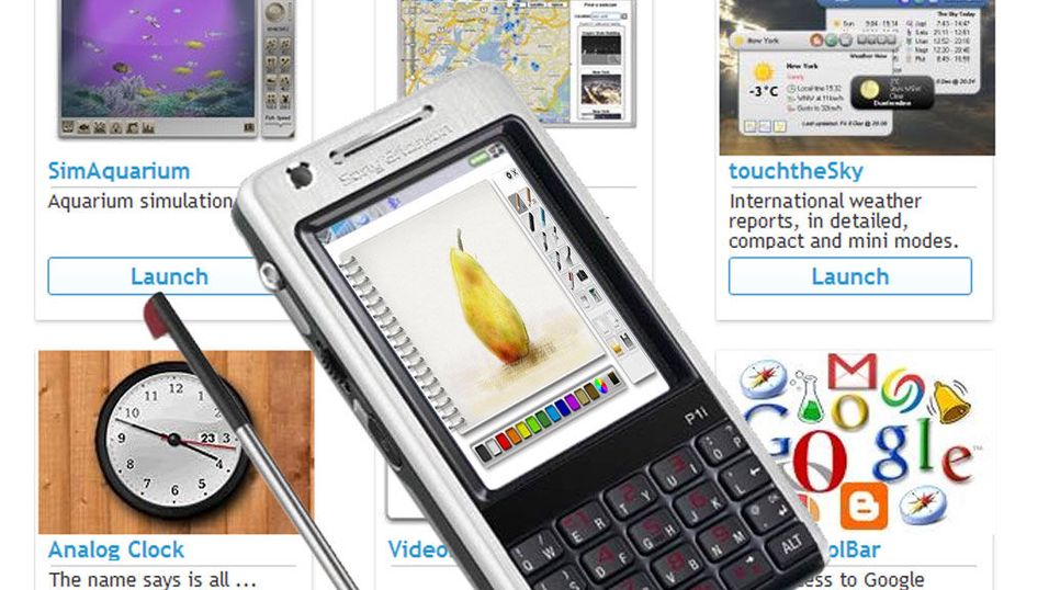 Opera Widgets på Sony Ericsson