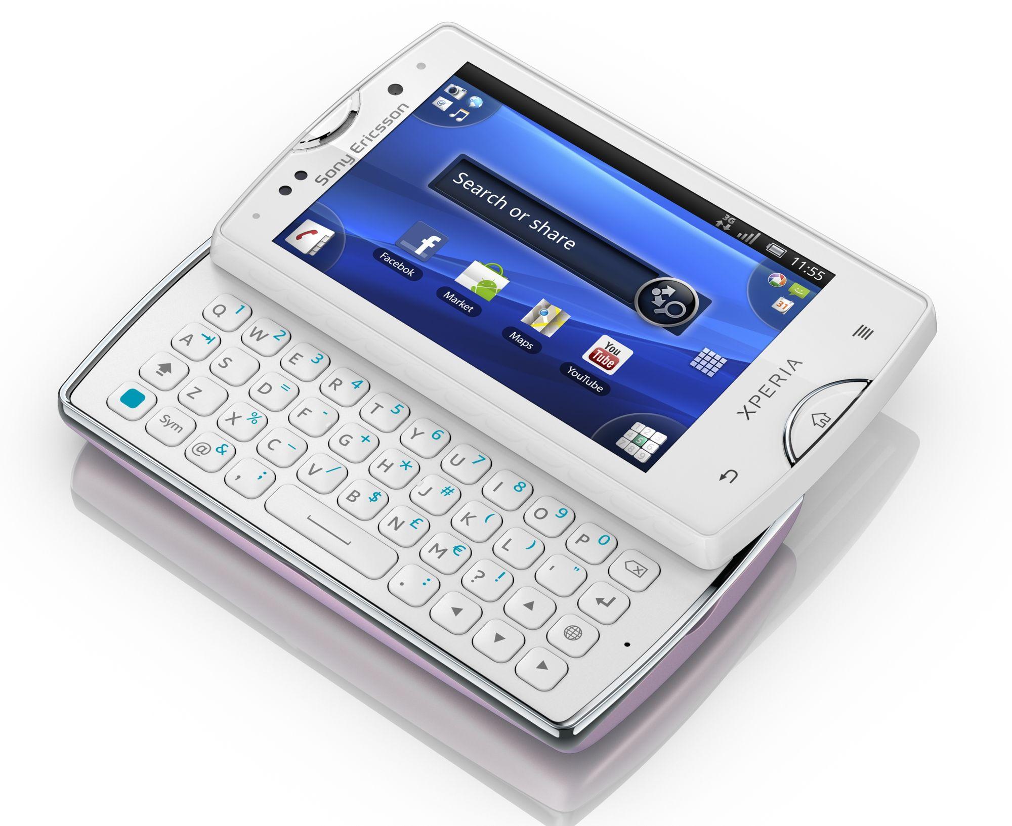 Xperia X10 mini pro har blitt en liten tanke st  248 rre enn forgjengeren Xperia Mini White
