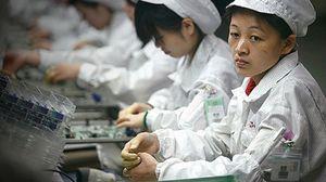 Foxconn--fabrikkene er blant Apples mange leverandører.