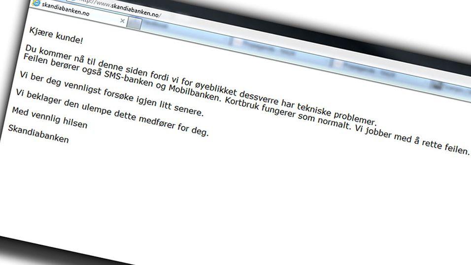 Skandiabanken sliter