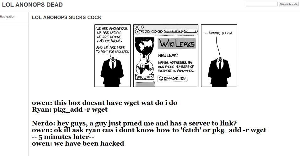 Anonymous angrepet av sine egne