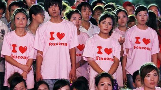 Dette bildet kan ha bidratt til å gjøre Foxconn beryktet.