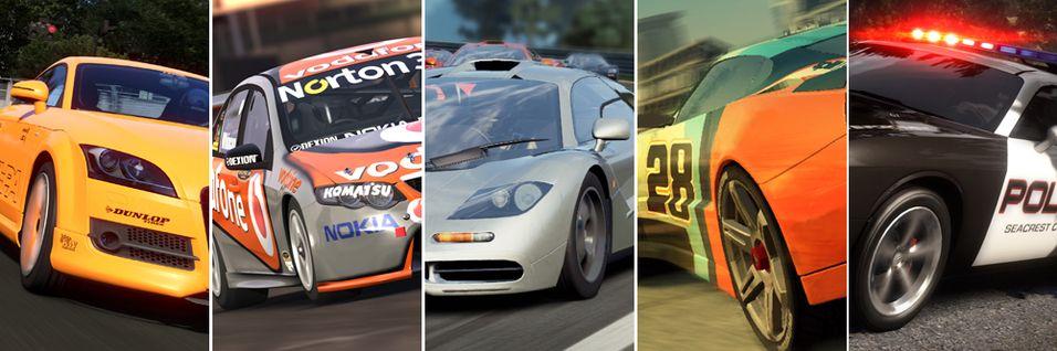 De 5 beste racingspillene akkurat nå