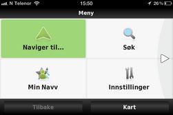 Navv er sammen med Ndrive den aller mest brukervennlige appen i testen.
