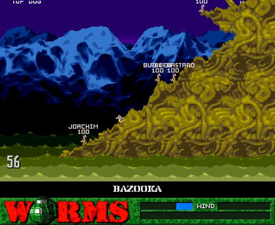 Worms på Amiga.