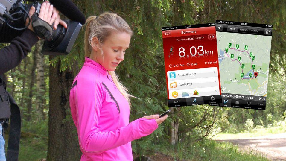 Rakel Nordtømme hjalp Mobilen.no med testing av åtte treningsapper. (Foto: Mobilen.no)