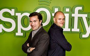 Grunnleggerne av Spotify: Daniel Ek og Martin Lorentzon