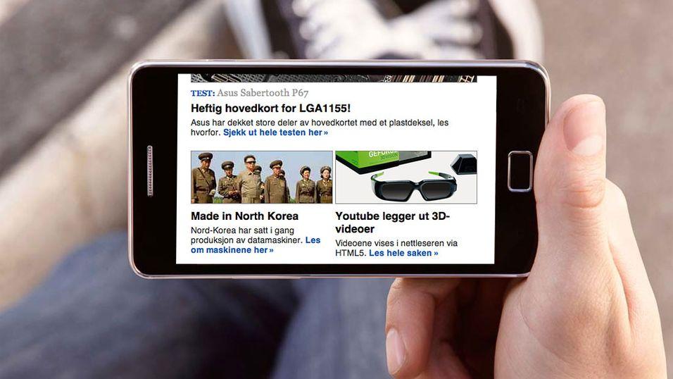 Sjekk ut våre nye mobilsider