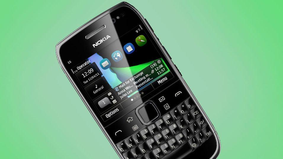 Nokia E6 på vei til butikken