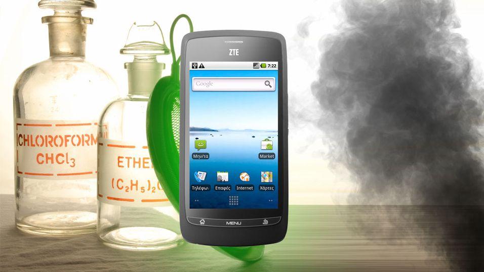 Sammenligner mobilbruk med kloroform og eksos