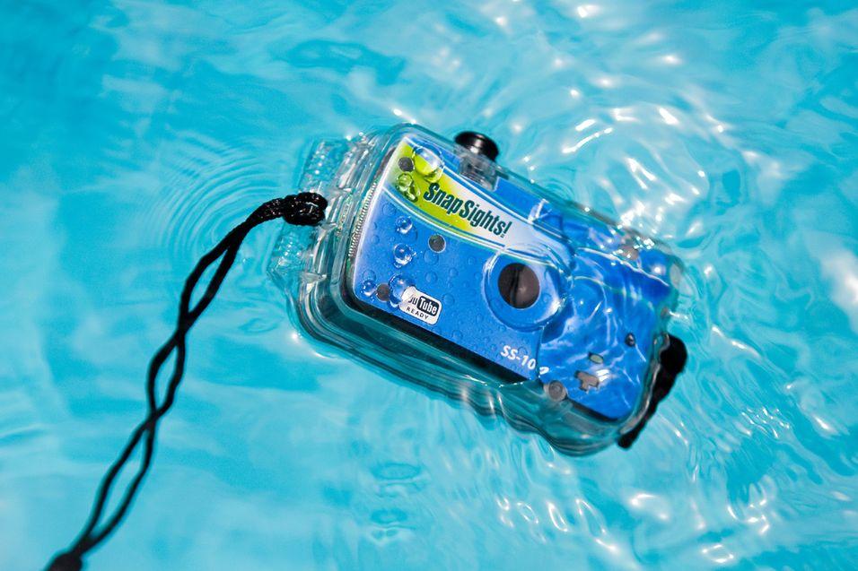 Ta bilder på 30 meters dyp