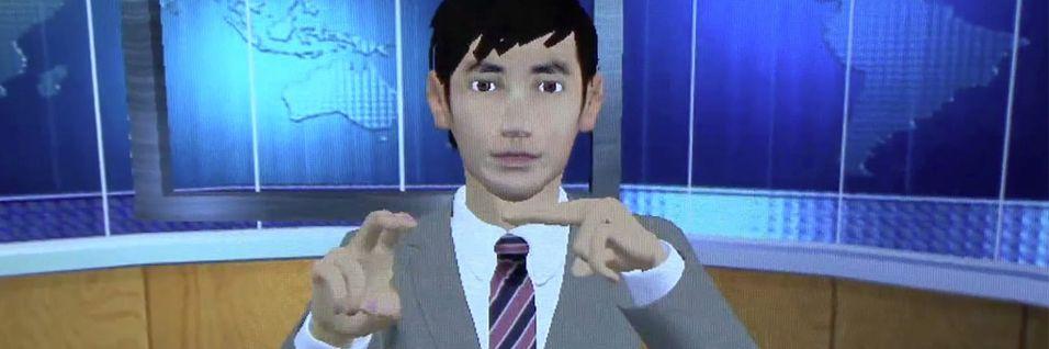 Animert figur gir nyheter på tegnspråk