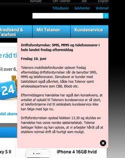 Også Telenor i Danmark har problemer i dag. De danske problemene skal skyldes en feil hos Telenor her i Norge.
