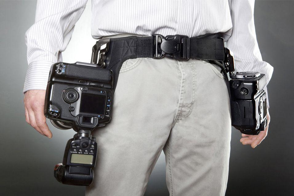 Bli sheriff med dobbelt kamerahylster