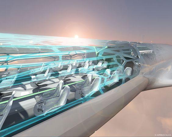 INTERAKTIV MEMBRAN: Om 360 graders utsikt fra flysetet kan bli litt i overkant for passasjerer med flyskrekk, vil Airbus gjøre det mulig for hver enkelt person å «dekke til» utsikten. ( Airbus S.A.S. )